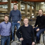 confac's stiftere og direktører - fra venstre ses Hans Verner Lind, Peter Adamsen, Frank Laursen og Erling Holm.
