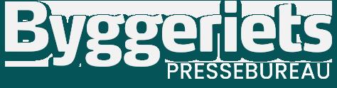 Byggeriets Pressebureau Logo White
